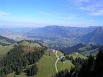 Blick vom Klettersteig Moleson