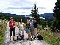 Wandergruppe oberhalb Schluchsee